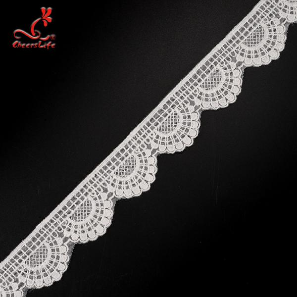 Quality 4.5cm Idth Stretch Trim Embroidery Lace Trim Water Soluble For Underwear for sale