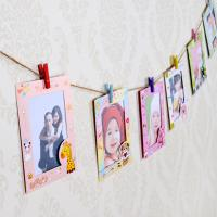 China Cheap 9 pcs/lot 6 Inch DIY Wall Hanging Cute Animal Paper Photo Frame For Pictures on sale