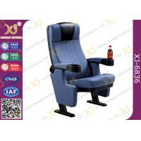 China Genuine Fabric Home Cinema Seating / Lecture Hall Chairs With Cast Iron Frame wholesale