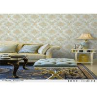 Vinyl Damask PVC Waterproof Wallpaper Strippable Italy Style For Living Room