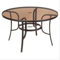 China Round Bronze Tinted Table Top Glass Withstands Abrupt Temperature wholesale