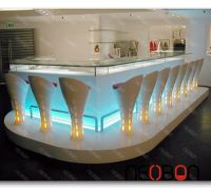 China Nightclub LED commercial Elegant modern bar counter on sale