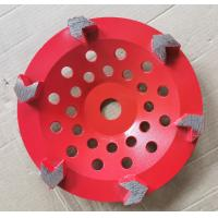 China Arrow segment Diamond Cup Diamond Grinding Wheels Grinding Concrete With Customized Color wholesale