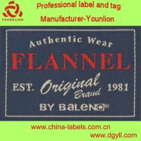 China approved by Oeko Tex standard woven label for fashion apparel collar main label wholesale