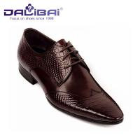 China Mens Leather Dress Shoes Italian Casual Formal Work Shoes With Pointed Toe on sale