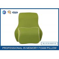 Deluxe Filling Ventilated Foam Car Neck Pillow and Memory Foam Back Support Cushion With Adjustable Strap
