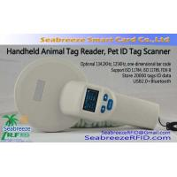 China 125KHz/134.2KHz Handheld Animal Tag Reader, Pet ID Tag Scanner, ISO11784/11785 Protocol Standard, Support FDX-B on sale