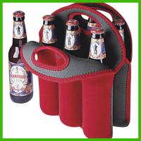 China 2014 new style Neoprene 6-pack beer bottle cooler,double wine holder wholesale