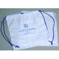 China Biodegradable drawstring laundry poly bag with printing,Logo Printed Poly Drawstring Hotel/Travel Laundry Plastic bag wholesale