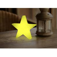 China Star Shape Wood Decorative Battery Operated Desk Lamp / Rechargeable Table Lamp wholesale