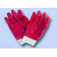oil resistance red PVC coated gloves