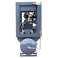 China 15KW 20HP Energy-saving Wind-cooling oil lubricant air compressor mounted tank wholesale