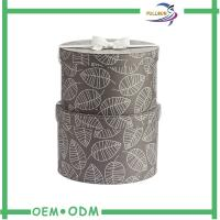 Round Cardboard / Leatherette Paper Tube Box , Luxury Dress Packaging Boxes