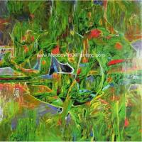 China Landscape Abstract Modern Art Oil Painting 100% Hand - Painted Gift For A Festival wholesale