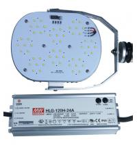 China 120W LED Retrofit kit Up to 16200LM for 400W HID Replacement Shoebox Lamp DLC/ETL,CE/RoHs wholesale