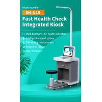 """China LCD HD 15"""" Medical Check In Kiosk Self Service Height Weight And Blood Pressure Kiosk wholesale"""