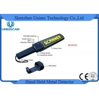 China High Sensitivity Hand Held Security Detector , Metal Detector Scanner For Airport wholesale
