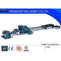 China Side Rail Machine Cable Tray Roll Forming Equipment With Two Production Line wholesale