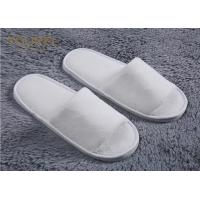 China Nature Cotton Custom Hotel Slippers For Men And Women Open Toe Terry Cloth Slippers wholesale