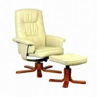China Leather antique/leisure chair with footrest paint bentwood on sale