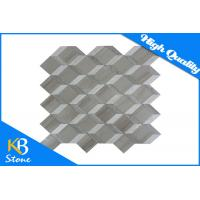 China 3D Effect Polished Marble Mosaic Tiles Wooden Grey Home Flooring Tile Modern 3D Wall Sheet wholesale