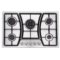 5 Ring Built In Gas And Electric Hob With 201 /304 SUS Stainless Steel Panel
