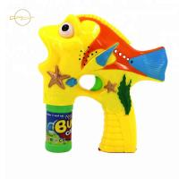 China Plastic Clown Fish Bubble Shooter Bubble Gun Toy 3*AA Batteries Included wholesale