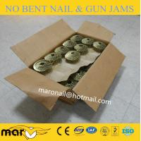 China 1 1/2 X .099 15° Flat Welded Wire Coil Nails with ring /screw/smooth shank type wholesale