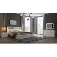 Buy cheap White High Gloss Bedroom Furniture / King Bed Headborad with Flap Door from wholesalers