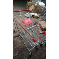 China Mini European Style Grocery Metal Supermarket Shopping Cart / Powder Coated Grocery Store Shopping Cart wholesale