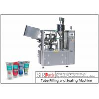 Automatic Tube Filling And Sealing Machine For Hand Cream / Honey / Shampoo