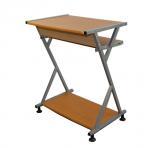 Economic Student Home Office Computer Desk Walnut With Slidable Keyboard Shelf