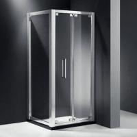 China Shower Enclosure, Square, Bi-fold Door, with Aluminum Alloy Frame, Easy-to-install wholesale