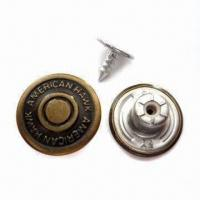 Quality Close Top Jeans Buttons, Made of Brass, Suitable for Various Apparel for sale