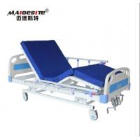 China M08 Three Functions Manual Hospital Bed , Adjustable Patient Bed Load Capacity 250kg wholesale