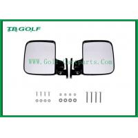Black Folding Golf Cart Side View Mirrors Universal Convex Design Easy To Install
