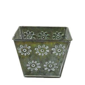 China antiqued metal flower pot bucket for garden decoration wholesale