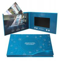 China Digital Promotional LCD Video Brochure Card / Custom Video Brochure 7 Inch Tft Screen wholesale