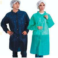 China Non Woven PE Coated Disposable Lab Coats PP Protective Barrier GownsCE / ISO9001 on sale