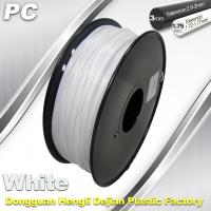 China 1.75 / 3.0 mm  PC Filament  White for 3d Printer Filament wholesale