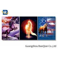 China Horse Stock Free Sample Poster With MDP Frame , Pet Lenticular 3d Pictures For Home Decor on sale