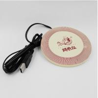 China 2016 Hot USB Heat Warmer Silicone Cup Mat / Coffee Coaster With Embossed Logo wholesale