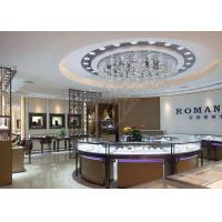 China Commercial Display Cases / Jewellery Showroom Furniture Decorated With LED Lights wholesale