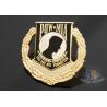 China Custom Metal Hard Enamel Pow Mia Logo Lapel Pin Bages, Logo Effect Shiny Gold Silver Or Copper Plating wholesale