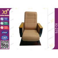 China High Back  Fixed Floor Cinema Theater Chairs With Wooden Pad , Folded Auditorium Conference Hall Chairs on sale
