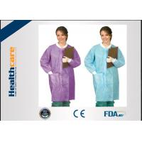 China Snap Buttons Disposable Lab Coats , Medical Protective Gown for Children / Adults wholesale