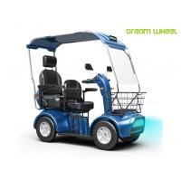 China Handicapped Electric Mobility Scooter 48V 20Ah Double Seats 130Kgs Steel wholesale