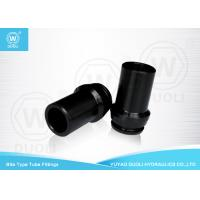 China Black Hydraulic Bite Type Industrial Hose Fittings , Quick Connect Hydraulic Hose Adapters wholesale