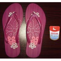 China Cute New Fashion white dove color printing beach PE slippers sandals 6 wholesale
