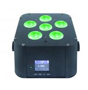 China Dj stage light battery quad rgbwa uv 6in1 par light 6x18w battery wireless dmx led uplight for wedding  wholesale